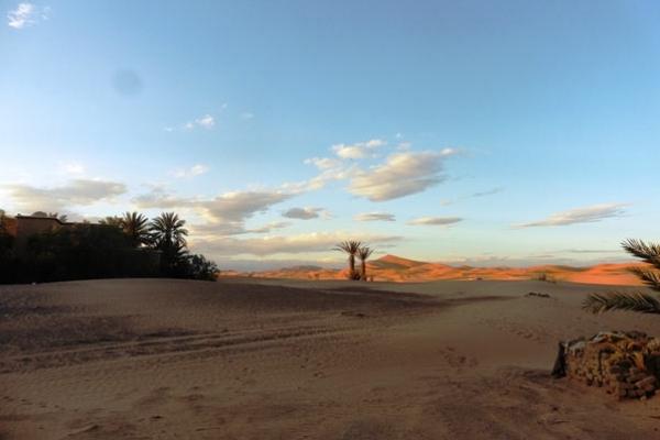 Maroc - Coucher de soleil au camping