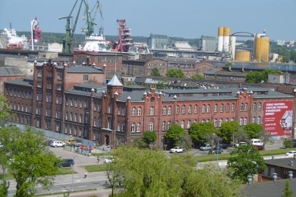 Pologne, Gdansk vue du haut du musée du chantier naval