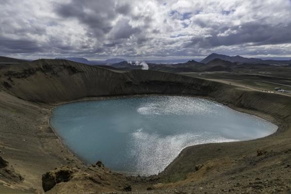 Islande, Myvatn, Lac bleu