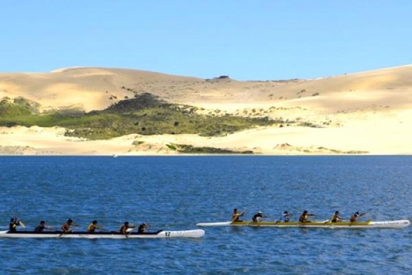 Nouvelle Zélande, Ninety miles beach, entrainement Maori