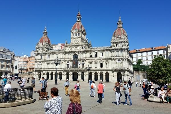Plaza major - La Corogne -Galice