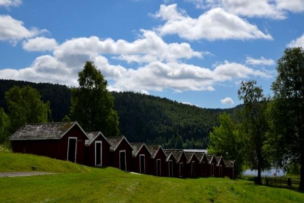 Cap Nord, Suède, Ecuries paroissiales de Nordingra, côte de la mer Baltique