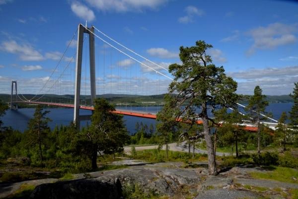 Cap nord, Suède, Pont de Hoga Kusten , côte de la mer Baltique