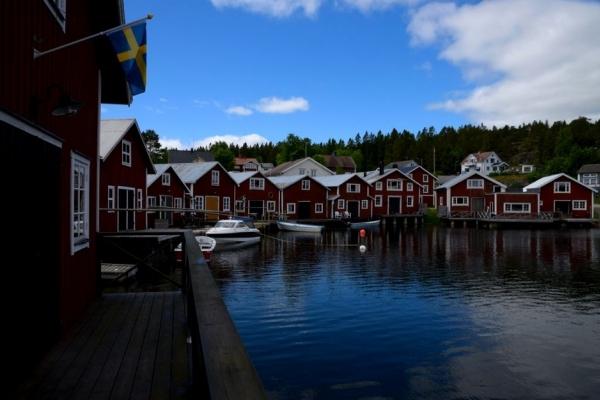 Suède, Bonhamn, côte de la mer Baltique