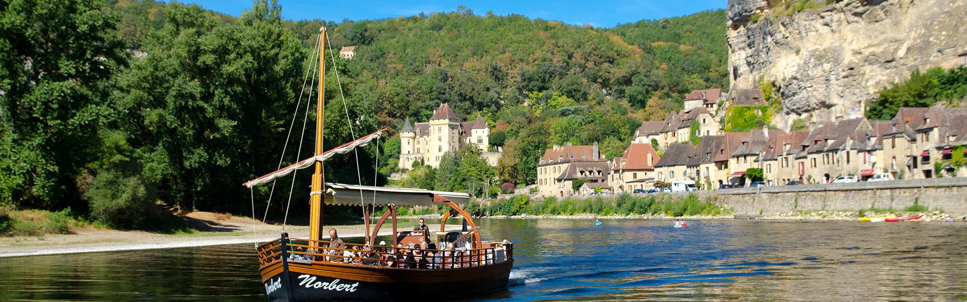 Balade en gabare sur la Dordogne