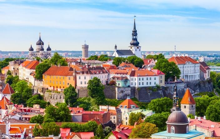Baltique, église de Saint Olaf à Tallinn
