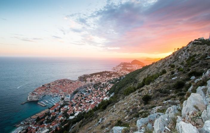 Dubrovnik au coucher du soleil