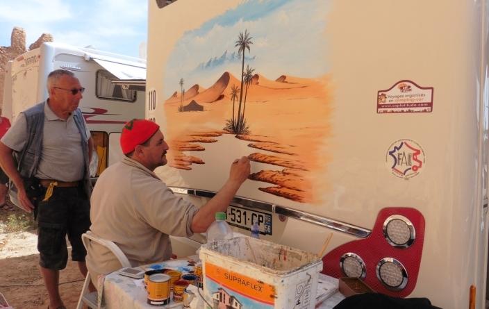 Maroc peinture fresque