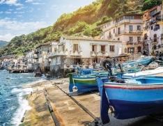 Sicile, village de pêcheurs en Calabre