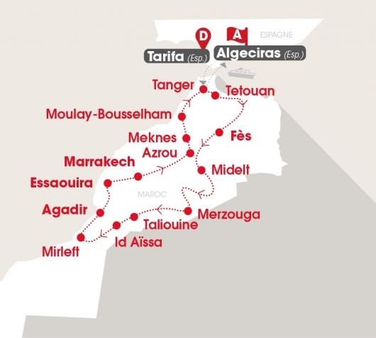 Maroc nature - carte