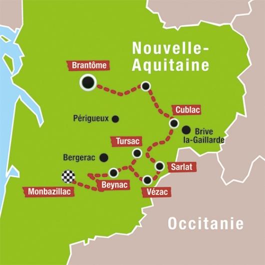 Carte voyage Périgord avec France Passion