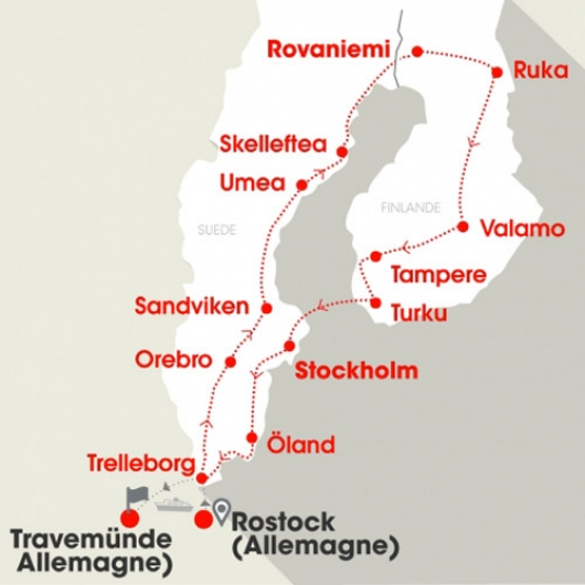 Carte Suède Finlande