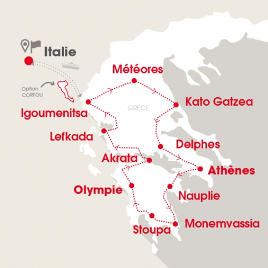 Carte Grèce 2019