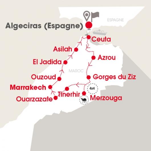 Carte Maroc 13jrs