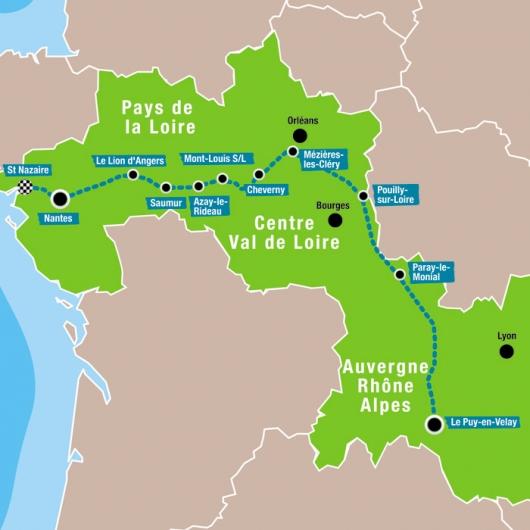 carte circuit Loire FRANCE PASSION